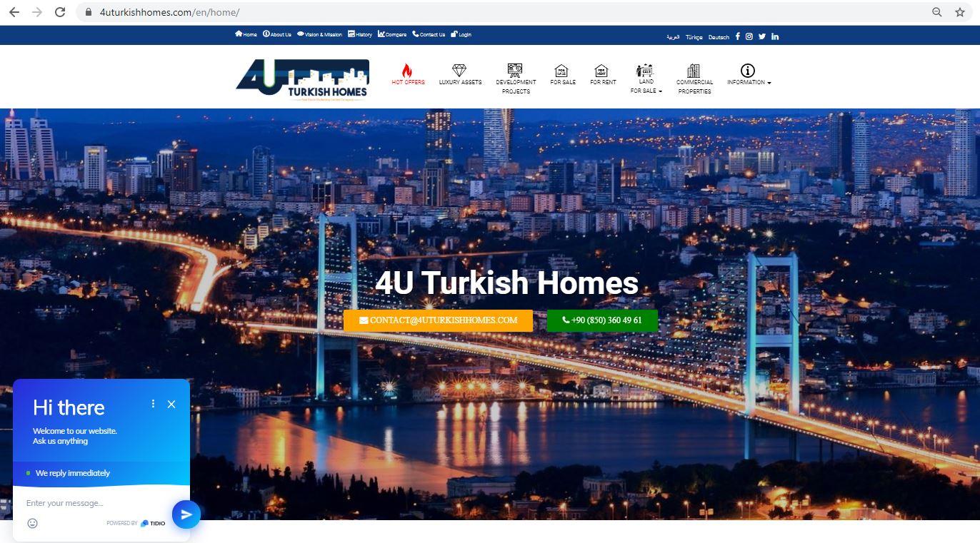 4uturkishhomes emlak WEB Sayfası
