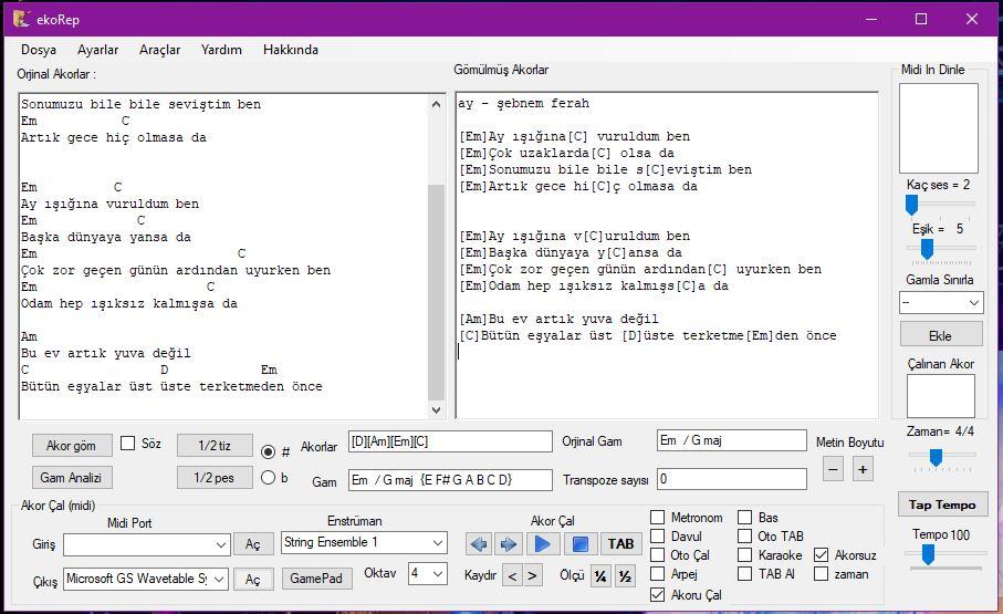 ekorep yazılımı ekran görüntüsü